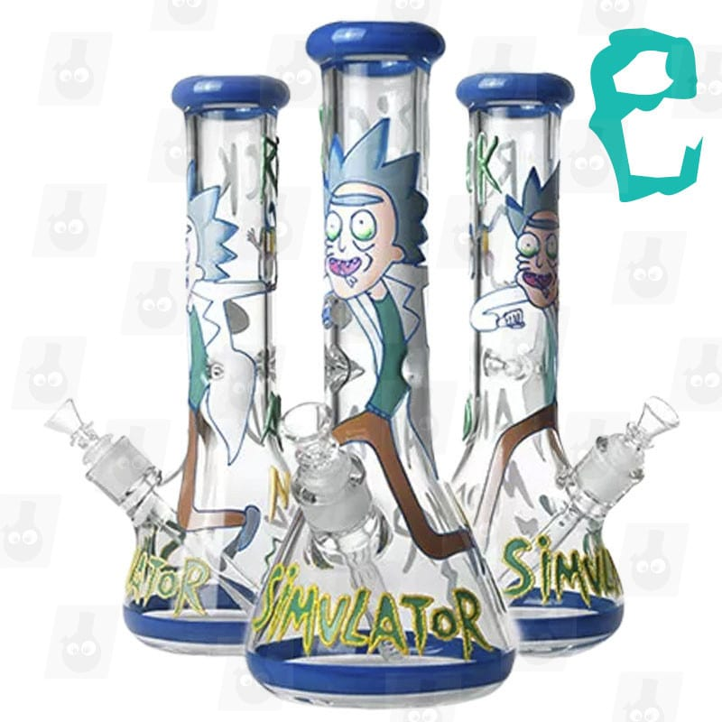 Rick and Morty Bong Collection 5 Option E 13.5 inches Ice Bong mark