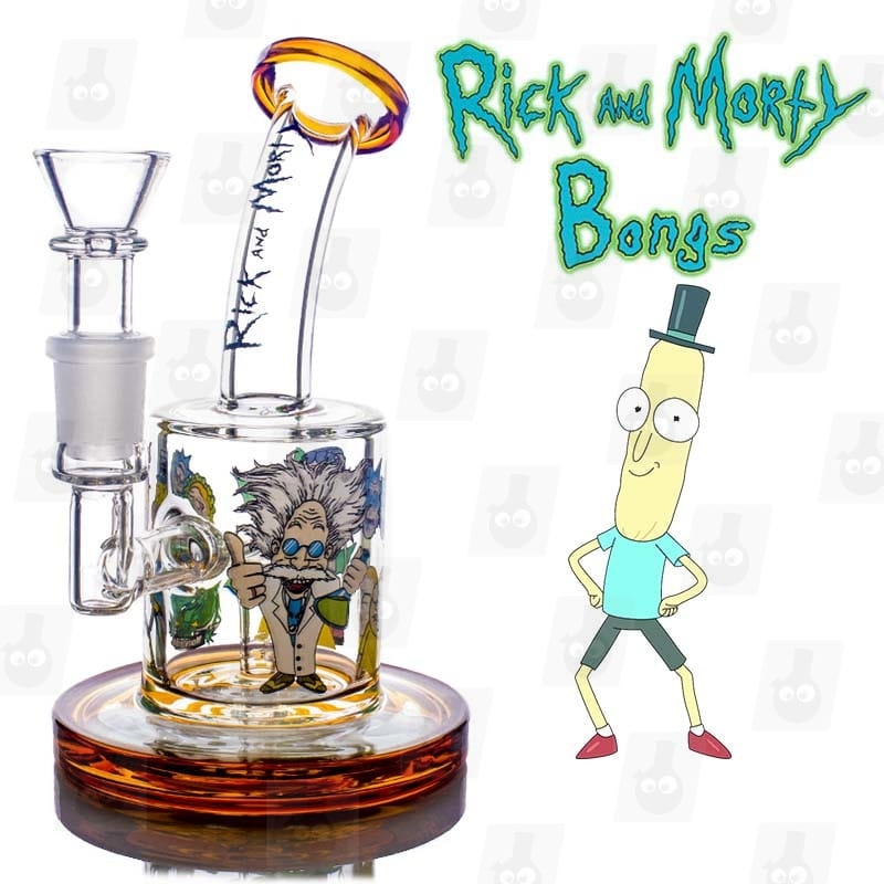 Rick and Morty Amber Mini Bong title