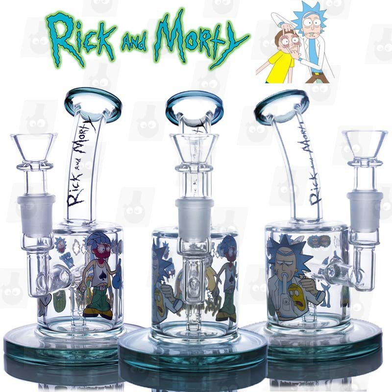Rick and Morty Mini Bong Green 6 Inches Bong All