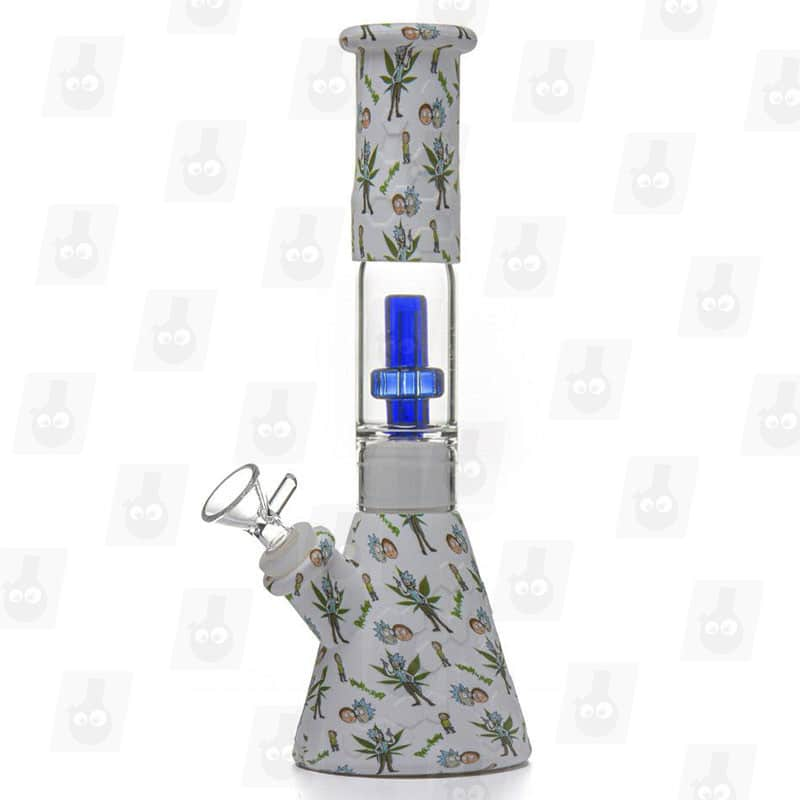 Rick-and-Morty-Silicone-Bong-White-10-Inches-Portable-Silicone-Bong-all blue