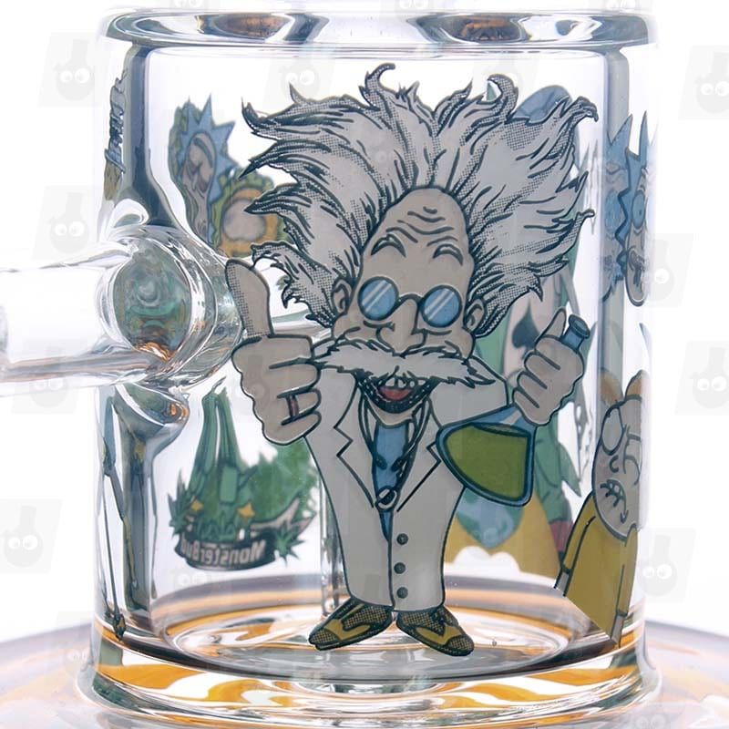 Rick and Morty Amber Mini Bong close