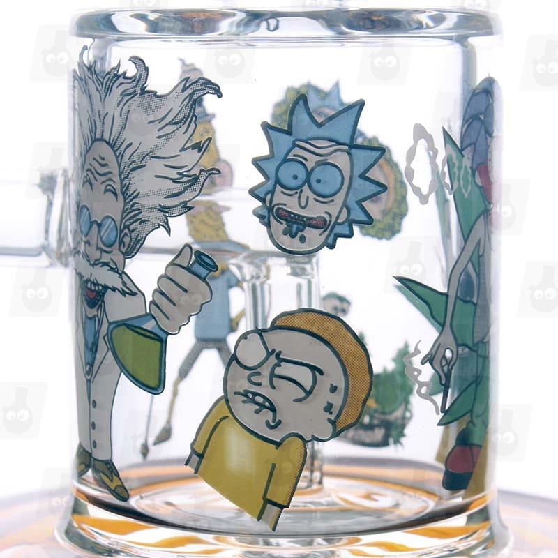 Rick and Morty Amber Mini Bong close1