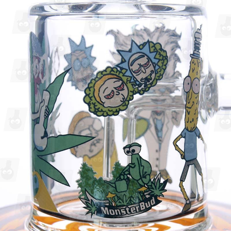 Rick and Morty Amber Mini Bong close3