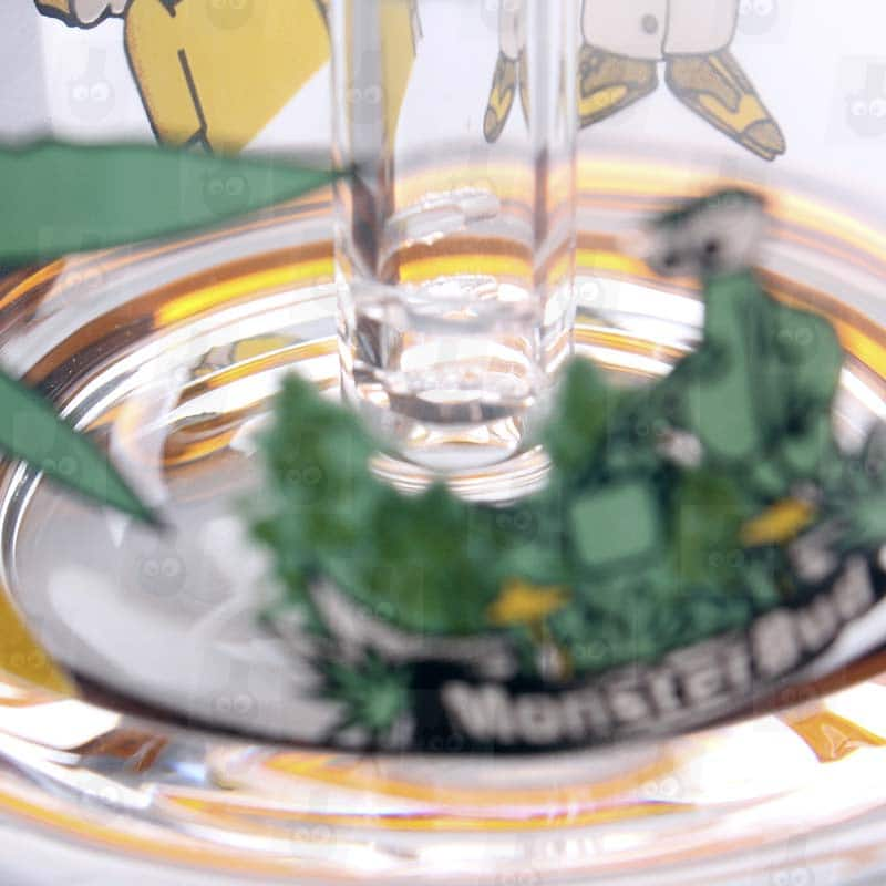 Rick and Morty Amber Mini Bong perc