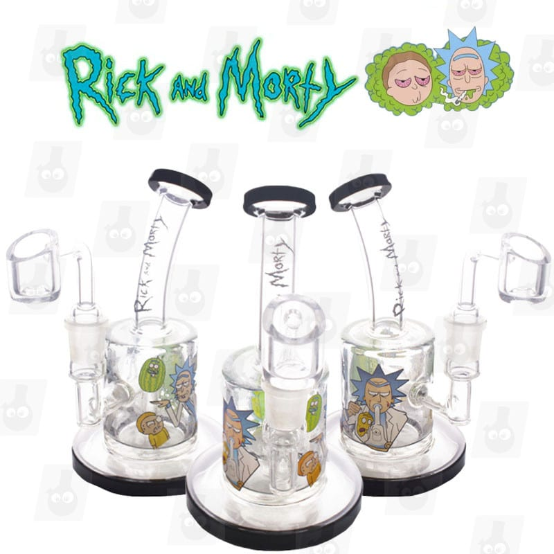 Rick and Morty Dab Rig Collection black