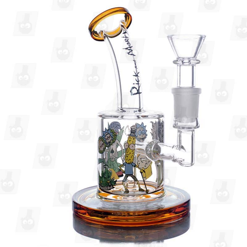 Rick and Morty Amber Mini Bong_right