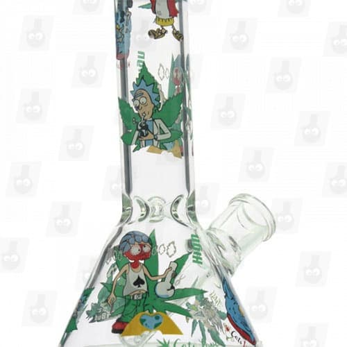 Rick and Morty Glass Collection 1 Option B 8 Inches Water Piece