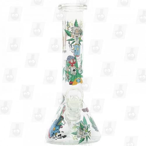 Rick and Morty Glass Collection 1 Option B 8 Inches Water Piece3