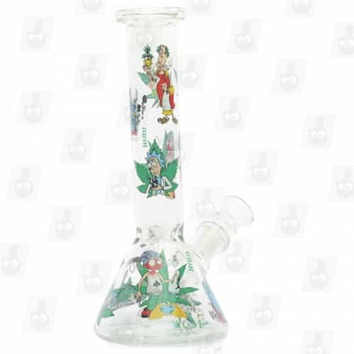 Rick and Morty Glass Collection 1 Option B 8 Inches Water Piece6
