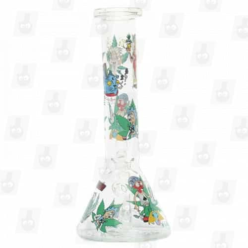 Rick and Morty Glass Collection 1 Option B 8 Inches Water Piece7