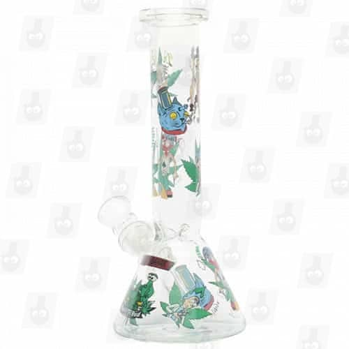 Rick and Morty Glass Collection 1 Option B 8 Inches Water Piece8