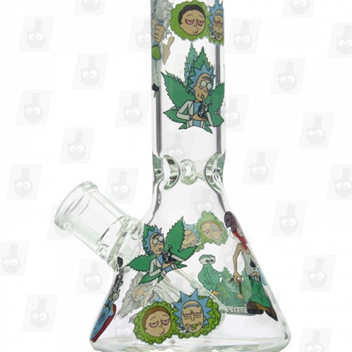 Rick and Morty Glass Collection 1 Option D 8 Inches Water Piece1