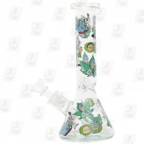 Rick and Morty Glass Collection 1 Option D 8 Inches Water Piece10