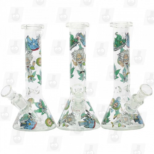 Rick and Morty Glass Collection 1 Option D 8 Inches Water Piece12
