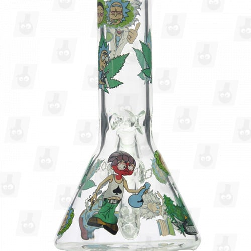 Rick and Morty Glass Collection 1 Option D 8 Inches Water Piece2