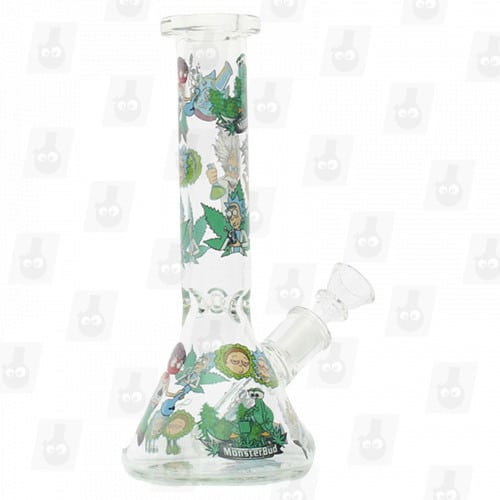 Rick and Morty Glass Collection 1 Option D 8 Inches Water Piece7