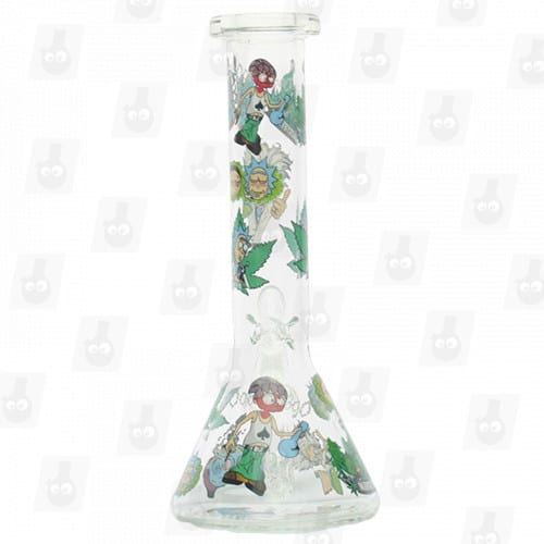 Rick and Morty Glass Collection 1 Option D 8 Inches Water Piece8