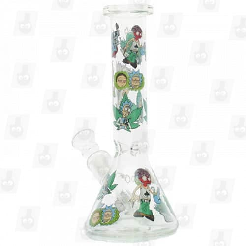 Rick and Morty Glass Collection 1 Option D 8 Inches Water Piece9