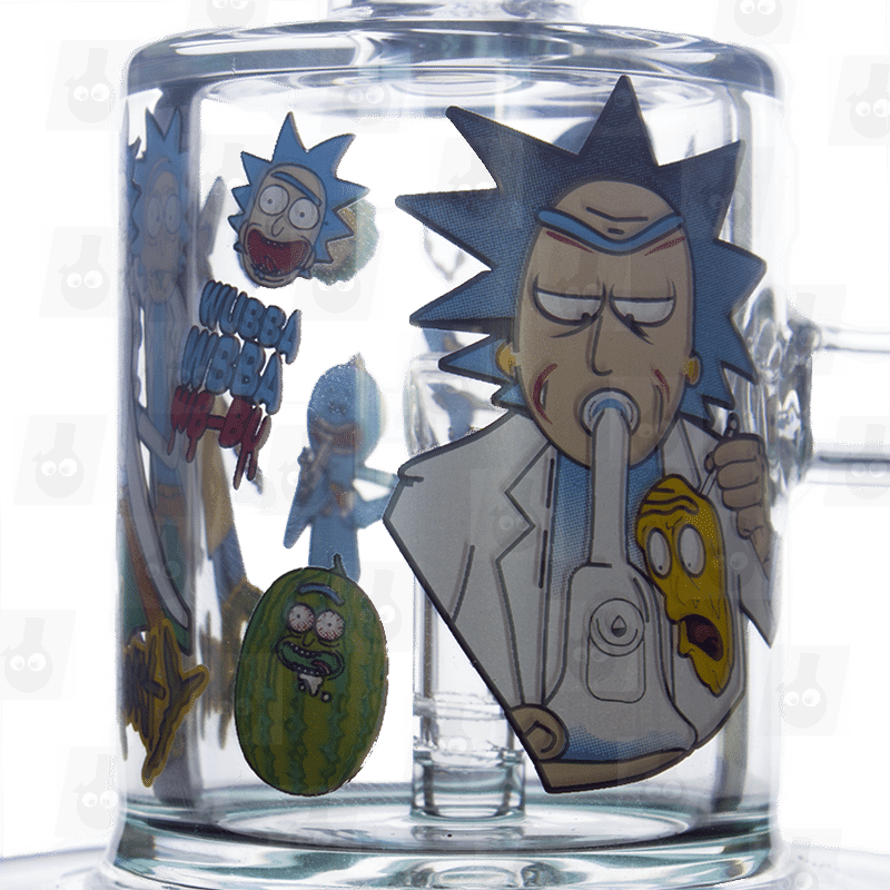 Rick and Morty Green Bong Close 2