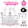 Matrix Kitty Pink 8 Inch Hello Kitty Perc Glass Bong