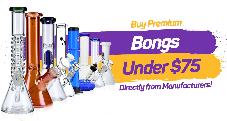 premium bongs under $75 for sale