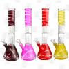 12 Spring Flower – 4 Colors – Dual Percolator Glass Ice Bongs1