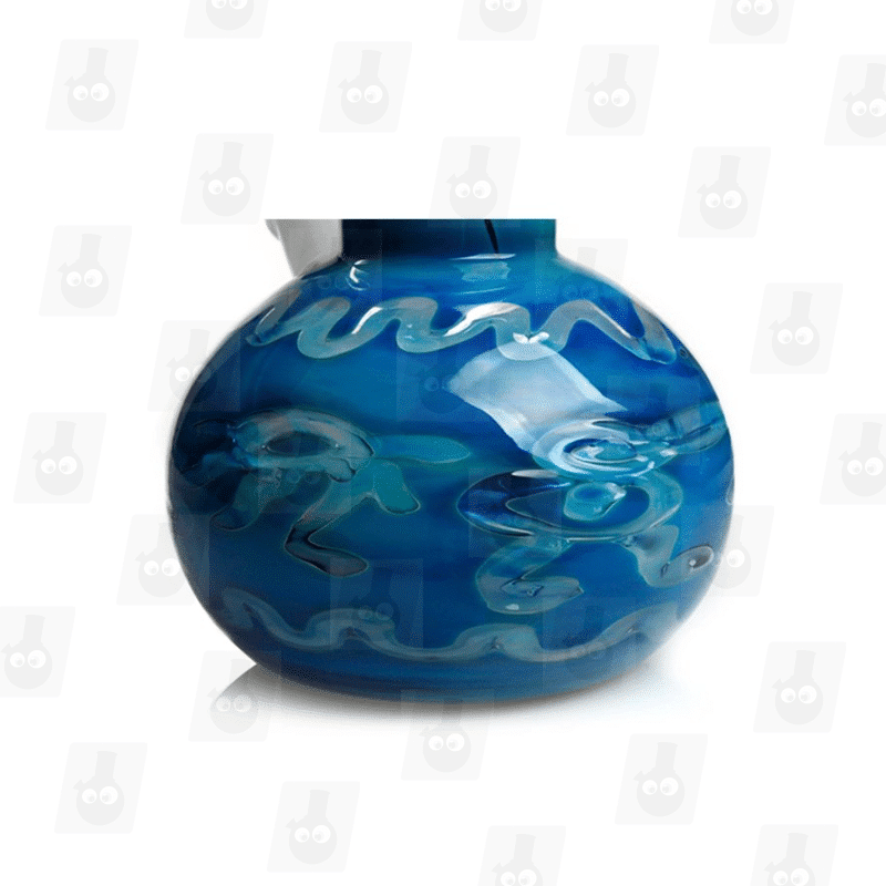 Deep Blue Sea 10.5 Inch Tall Perc Glass Ice Bong_Image4