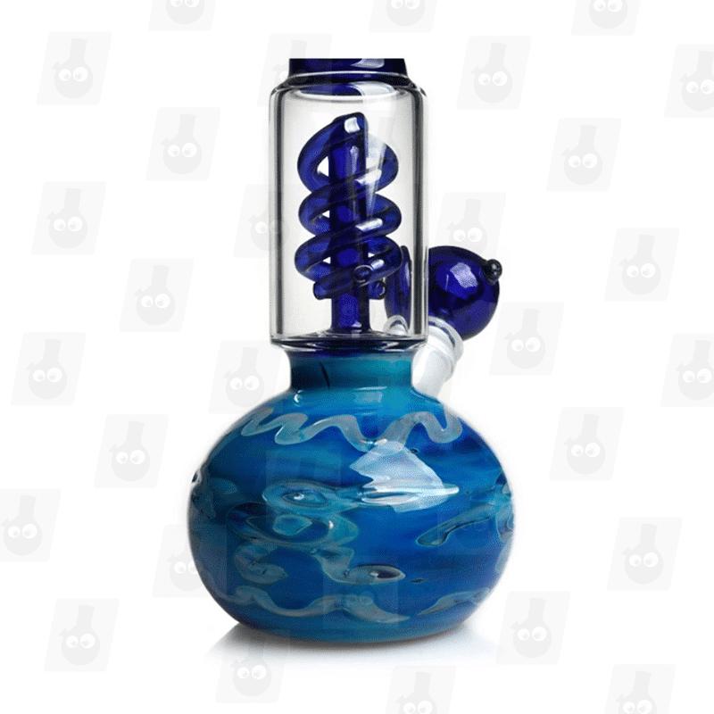 Deep Blue Sea 10.5 Inch Tall Perc Glass Ice Bong_Image5