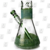 Fumed Dragon Skin green base 19 Inch 7mm Fumed Ice Glass Bongs
