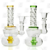 Perky Twister 2 Colors 6 Inch Triple Colored Perc Bongs
