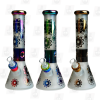 Plated Flower 3 Colors 12.5 Inch Holographic Ice Glass Bongs side