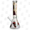 The Skeleton 14 Inch Premium Cartoon Ice Glass Bong left