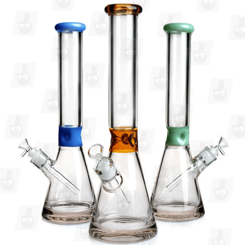 The Sleeker 3 Colors 15 Inch Dual Colored Ice Glass Bongs