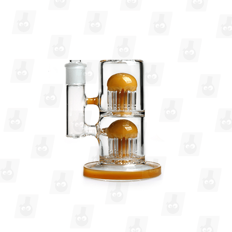 Thunder Stacker 3 Colors 11 Inch Colored Double Perc Glass Bongs_Image7
