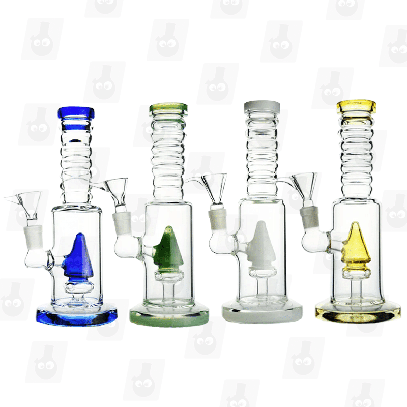 Tiny Space Shuttle 4 Colors 8 Inch Multicolor Perc Ice Glass Bongs1