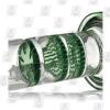 Triple Threat green percs 8.5 Inch Colored Triple Perc Glass Bongs
