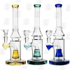 Eye of Horus 3 Colors 10 Inch Quadruple Colored Perc Glass Bongs
