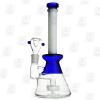 Milky Matrix blue 10 Inch Conical Perc Glass Bongs