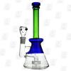 Milky Matrix green 10 Inch Conical Perc Glass Bongs