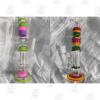 Triple Comb 2 Colors 14 Inch Triple Colored Perc Glass Bongs