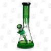 Drippy Beaker Green 10 Inch Multicolored Ice Glass Bongs