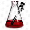 Drippy Beaker Red 10 Inch Multicolored Ice Glass Bongs Base