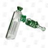 Phoenix Bubbler green Glycerin Coil Bubbler Perc Bongs