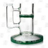 Baby Honeycomb Green Base 8 Inch Colored Perc Glass Ice Bongs